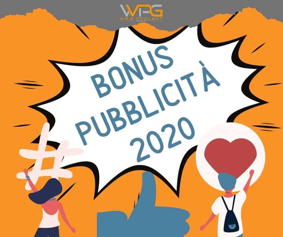 bonus pubblicità 2020 web marketing